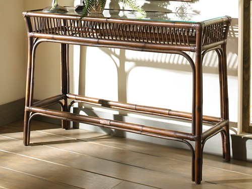 Awesome Wicker and Rattan Console Table