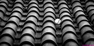 La pelota en el tejado. Tegueste, Tenerife, diciembre 2010.