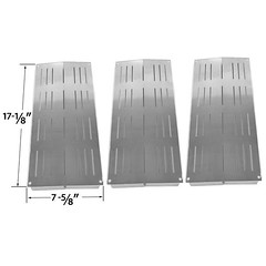 3-PACK-STAINLESS-STEEL-HEAT-SHIELD-FOR-SAMS-04ALP-04BNG-GRAND-CAFE-GC-1000-AND-CHARBROIL (grillpartszone) Tags: stainless steel heat shield sams