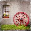 Dwelling. Eshaness, Shetland (ceeko) Tags: 2015 eshaness hipstamatic scotland shetland flowers iphone4s museum wall wheel window unitedkingdom tangwickhaa