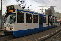 908, Amsterdam Centraal, January 27th 2015 (Southsea_Matt) Tags: 908 route5 serie11g gvbamsterdam centraalamsterdamhollandthe netherlandspassenger travelpublic transporttrammetrolight rail