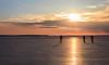 sunset skaters (Antti Tassberg) Tags: meri landscape jää talvi outdoor silhouette helsinki suomi luistelija finland ice scandinavia sea skater winter