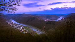 Moselle Night Fall (redfurwolf) Tags: moselle mosel sunset night sky germany landscape nature outdoor hiking river water bridge forest city village twilight tree redfurwolf sonyalpha a99ii sal2470f28za sony sonyimaging ngc nationalgeo mountains