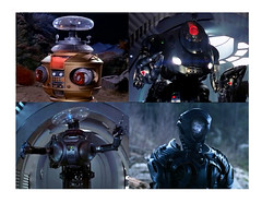 Robots B-9 Past and Present 7620 (Brechtbug) Tags: design new b9 robot lost space 2018 netflix reboot show screen grab collage screengrab along with past models 1965 1998 science fiction droid android droids future futuristic robinson family jupiter ii two 2