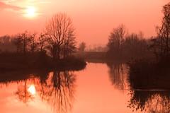 Tramonto (stgio) Tags: tramonto riflessi colori reflection sunset fiume river colours paesaggio landscape
