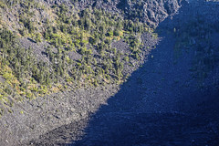 Mostly In Shadow (wyojones) Tags: hawaii hawaiivolcanoesnationalpark chainofcratersroad pauahicrater eruption fissure craterfloor lavalake maunaulu basalt wyojones np