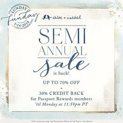 It's Sunday Funday + the Semi-Annual Sale is back til Midnight Tomorrow. That's right prices of up to 70% Off are back for a limited time. And now through midnight tomorrow Passport Rewards Members can earn 30% credit back on purchases, that's DOUBLE the (thecelticpearl) Tags: secondchance semiannual style thecelticpearl trend save sale shopping credit online accessories savings limitedtime discounts deals lowprices shop trendy guarantee chloeandisabel fashion sundayfunday buy jewelry big trending trends boutique lifetime doublerewards