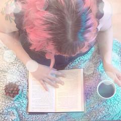 (shinebrightx) Tags: girl colorfulhair pinkhair pastelhair pastelpink bokeh cute