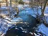 winter stream cliche ~ HCS! (karma (Karen)) Tags: parkschool pikesville maryland woods streams snow shadows iphone cmwd
