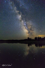Milky Way Over the Snake River_T3W0742 (Alfred J. Lockwood Photography) Tags: alfredjlockwood nature nightsky nightscape snakeriver reflection oxbowbend milkyway stars summer wyoming