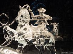 Cowboy ice sculpture (David R. Crowe) Tags: cowboy friends ice internations light people sculpture translucence calgary alberta canada