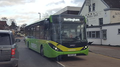 Photo of Trent Barton ADL Enviro 200 MMC YX67 UXT on mainline to Nottingham
