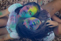 Double (Natalie Abdulmalik) Tags: nature forest editorial canon brazil purple blue pink green colors powder model double
