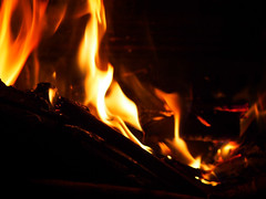 Fire #1 (alexfossett) Tags: fire wood burning burn smoke snap crackle pop flame flames hot warm winter cold night cosy surbiton olympus omd em5 100mm
