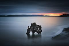 """ROCKSAURUS"" (FredConcha) Tags: rocksaurus rock formation volcanic beach mamute iceland sunset louds fredconcha nikon d800 1635 rockformation clif nature landscape"