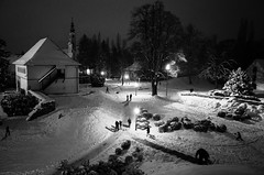 Snow Composition (Koprek) Tags: ricoh gr winter varaždin croatia streetphotography low light panorama reflexions action kids nightlight