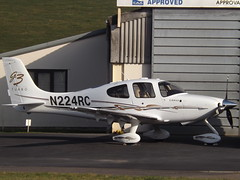 N224RC Cirrus SR22T Turbo GTS3 Private (Aircaft @ Gloucestershire Airport By James) Tags: gloucestershire airport n224rc cirrus sr22t turbo gts3 private egbj james lloyds