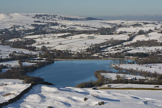 Combs Reservoir, High Peak, Derbyshire, England.