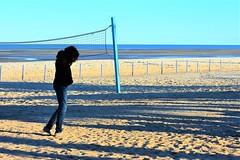 Quiet time (thomasgorman1) Tags: beach volleyball sand sea baja nikon woman candid streetphotos mexico shore horizon lowtide