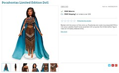 Pocahontas Limited Edition Doll - UK Disney Store Release 2018-03-02 - Product Page - Add to Bag Button Removed (drj1828) Tags: pocahontas disneystore uk limitededition 17inch doll le4500 posable release productinformation productimage productpage