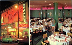 Ming's Restaurant, Vancouver, BC (SwellMap) Tags: postcard vintage retro pc chrome 50s 60s sixties fifties roadside mid century populuxe atomic age nostalgia americana advertising cold war suburbia consumer baby boomer kitsch space design style googie architecture