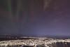 Tromsø by night II (Role Bigler) Tags: canoneos5dsr troms arctic auroraadidasis auroraborealis cold light manfrottotripod mountains night nordlicht norge northernlight norway sea shore snow town village winter tromsø trosö tromsö