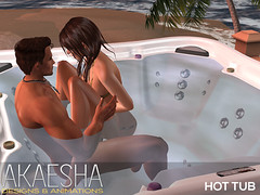 Akaesha Hot Tub (Akaesha Revnik) Tags: hot tub hottub couple animations romantic valentine group secondlife second life sl mesh bento