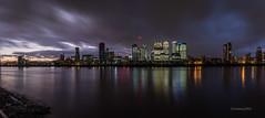 _C9Q2905-Pano-1 (rodwey2004) Tags: london landscape nightphotography longexposure reflection canarywharf twilight