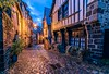 Old street (lavignassey) Tags: bretagne brittany france dinan street rue city architecture pavé cobblestone