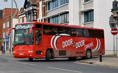 Door 2 Door Coaches (PD3.) Tags: bus buses psv pcv hampshire hants england uk portsmouth coaches door 2 wib7303 wib 7303 p27kwa p27 kwa plaxton premiere volvo b10m emblings coach