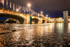 Sticks and stones (Blende57) Tags: rhine river bridge mittlerebrücke basel basle switzerland schweiz city urban night lowangleview reflections wet pavement smileonsaturday lightopia