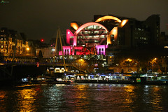 from Southbank1 (Asarum Images (asarumimages.weebly.com)) Tags: london station light dark nightphotography night river colours asarumimages asarum canon canonphotography canoneos6d 24105mm
