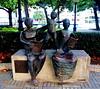 1.230 - Monumento al libro (esnalar) Tags: coruña acoruña lacoruña galicia españa spain libro librero escritor book bookcase writer monument sculture