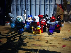 Assault on Classic (Lord Allo) Tags: lego dc suicide squad assault arkham asylum killer frost king shark captain boomerang deadshot harley quinn black spider kgbeast