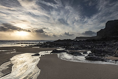 The tide rolling in - Explore 29 January 2018 - thanks! (Jo Evans1 - off and on for a while) Tags: mewslade beach gower tide push dramatic sky clouds rocks stream water surf