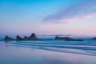 Ruby Beach Sunset Rock Outcropping Sky View