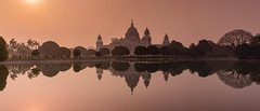 Victoria Memorial, Calcutta (Peter Quinn1) Tags: kolkata calcutta reflections india westbengal victoriamemorial dawn morning february कोलकाता पश्चिमबंगाल प्रतिबिंब सुबह oasis