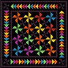 Lap black (quilt-addicts) Tags: patchwork quilt quilting quiltaddicts precutquiltkit confetti pinwheel modern