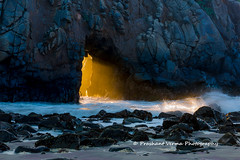 Golden Door (PrashantVerma) Tags: california big sur pch pacific coast highway julia pfeiffer beach purple sand landscape sunset golden light canon 5d