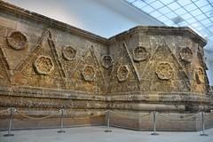 Facade of Qasr Mshatta, Umayyad, 8th cent.; Pergamon Museum, Berlin (9) (Prof. Mortel) Tags: germany berlin pergamonmuseum islamic umayyad mshatta