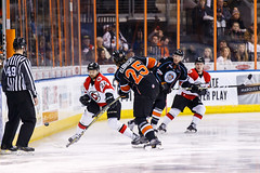 "Kansas City Mavericks vs. Cincinnati Cyclones, February 3, 2018, Silverstein Eye Centers Arena, Independence, Missouri.  Photo: © John Howe / Howe Creative Photography, all rights reserved 2018. • <a style=""font-size:0.8em;"" href=""http://www.flickr.com/photos/134016632@N02/39407448974/"" target=""_blank"">View on Flickr</a>"