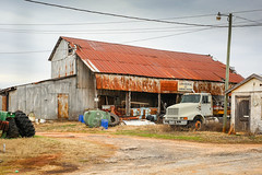 Abandoned cotton gin - Townville, S.C. (DT's Photo Site - Anderson S.C.) Tags: canon 6d sigma 50mm14 art lens townvillesc southcarolina upstate rural country roads cotton gin relic vintage vanishing rustic southernlife southern america usa scenic landscape barn farm crop