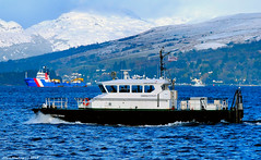 Scotland Greenock a navy pilot launch called the SD Clyde Spirit 13 February 2018 by Anne MacKay (Anne MacKay images of interest & wonder) Tags: scotland greenock navy pilot launch sd clyde spirit sea boat xs1 13 february 2018 picture by anne mackay