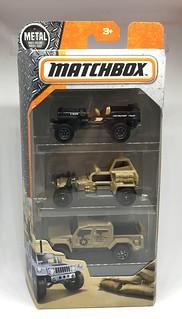 Mattel Matchbox - 3 Piece Set - Military Vehicles - Miniature Diecast Metal Scale Model Vehicles