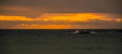 Chasing the light (evakongshavn) Tags: sunset orange light yellow vividorange vivid waterscape water sealine seashore sea ocean oceanscape sunsets sunsetsocean sunsetocean sunlight sun beam rays raysoflight 7dwf landscape landschaft paysage