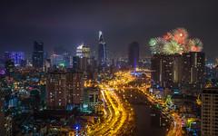 Tet 2018 firework @ Saigon (daihocsi [(+84) 918.255.567]) Tags: approved tết 2018 pháohoa firework