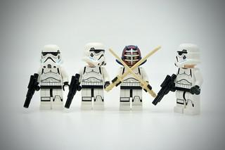 LEGO Stormtrooper Kendo Fighter