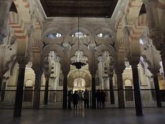 Mihrab, La Mezquita (Great Mosque) of Córdoba (Anita363) Tags: lamezquita mezquita mosque mosque–cathedralofcórdoba mosquecathedralofcórdoba mezquitacatedraldecórdoba greatmosqueofcórdoba architecture building moorish umayyad córdoba andalucía andalusia spain españa unescoworldheritagesite interior mihrab qibla arch multifoil multifoilarch arcade horseshoearch column chandelier