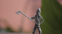 Norse (Marcos Origami) Tags: norse viking tribal origami origamiart origamilatinoamerica papiroflexia handmade white warriior paper paperart human figure