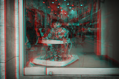 New York, New York (DDDavid Hazan) Tags: newyork ny nyc manhattan chinatown boy toddler street anaglyph 3d bwanaglyph blackandwhiteanaglyph 3danaglyph 3dstereophotography redcyan redcyan3d stereophotography stereo3d streetphotography